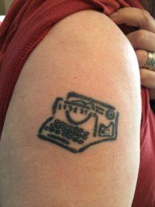 Alex Bledsoe typewriter tatt